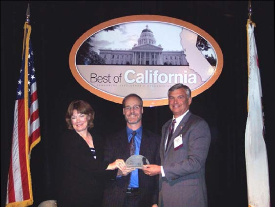 WCDS accepts the 2007 Best of California award for CalWIN